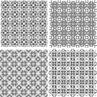 Royalty-Free Stock Vector Image: Monochrome geometric seamless patterns set. Vector backgrounds