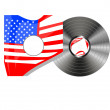 Royalty-Free Stock Vector Image: Vinyl bubbles in usa flag cover