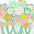 Perfect spring daisies border isolated on white background. vector — Imagen vectorial