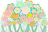 Perfect spring daisies border isolated on white background. vector — Stock Vector