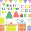Big set of Christmas stuff. decoration elements — Vektorgrafik