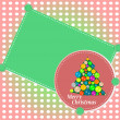Merry Christmas tree. vector holiday background — Imagen vectorial