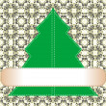 Creative Christmas card on floral wall. Vector — Stock Vector #8125904