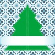 Stock Vector: Christmas tree applique vector background
