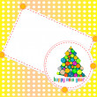 Abstract background with Christmas tree balls. Happy New Year — Vektorgrafik