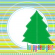 Christmas tree - Christmas and New Year — Stock Vector