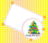Abstract background with Christmas tree balls. Happy New Year — 图库矢量图片