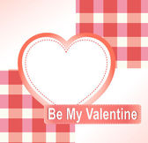 Valentine's background with hearts and empty space — Stock Vector