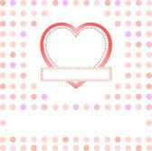 Romantische geschenk-karte mit herz und platz für grüße wort — Stockvektor