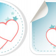 Set of sticker love hearts. valentines day — Imagen vectorial