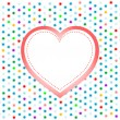 Pair of valentine heart on abstract background — Imagens vectoriais em stock