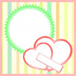 Vector de stock : Two paper hearts background, saint valentines vector