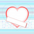 Blue love card with Wedding heart vector invitation card — Stock Vector
