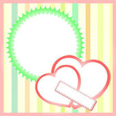 Two paper hearts background, saint valentines vector — Stock Vector