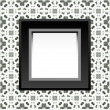 Vector de stock : Frame with empty space on floral wallpaper