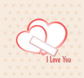 Two heart I Love you composition. Saint Valentines day — Stock Vector