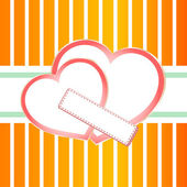 Pastel ornate background with two hearts — Stock Vector