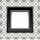 Frame with empty space on the floral wallpaper — Stock Vector