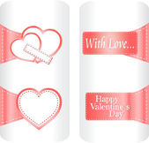 Collection of cute heart stickers for wedding or valentine`s day — Stockvektor
