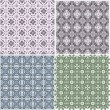 Set of stylish seamless geometrical backgrounds pattern. vector — Stock Vector