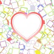 Valentines or wedding heart with abstract background — Imagens vectoriais em stock