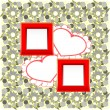 Royalty-Free Stock Vektorfiler: Photo frames and heart on vintage background