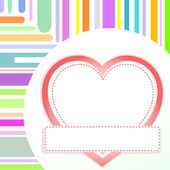 Vector valentine love heart romantic birthday background — Stockvektor