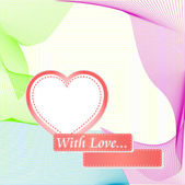 Heart Valentines Day background postcard — Vector de stock