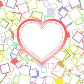 Día de san valentín o boda corazón con antecedentes — Vector de stock