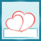 красивые абстрактный фон с два сердца — Cтоковый вектор