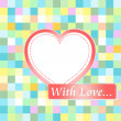 Love card with hearts. love wedding invitation — ストックベクタ