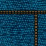 Worn blue denim jeans texture, vector background — Stock Vector