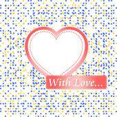 Retro pastel mosaic love heart. st. valentine vector — Stock Vector