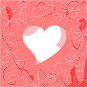 Heart love card, valentine day abstract background, vector — Stock Vector