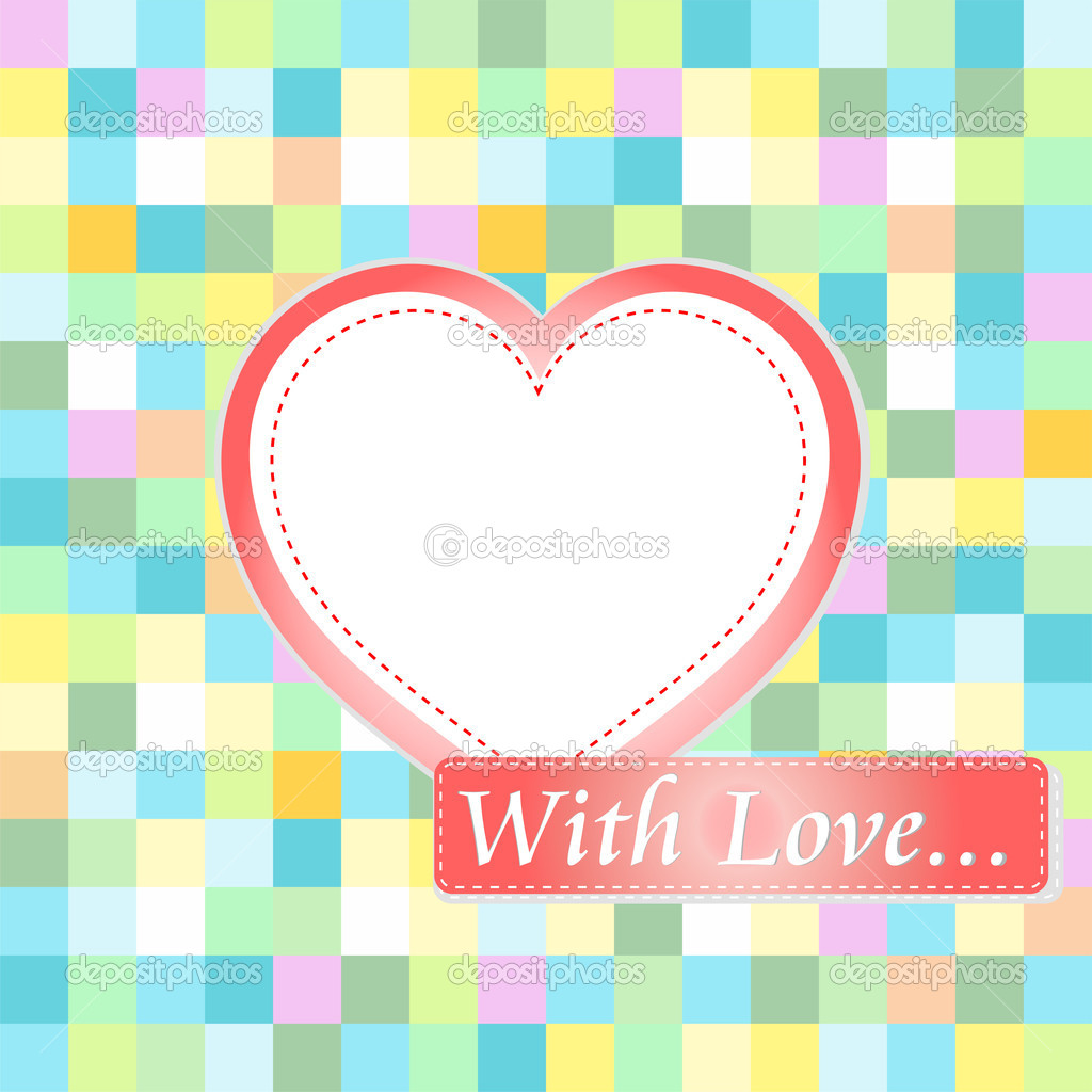 Love card with hearts. love wedding invitation background  Stock Vector #8624252