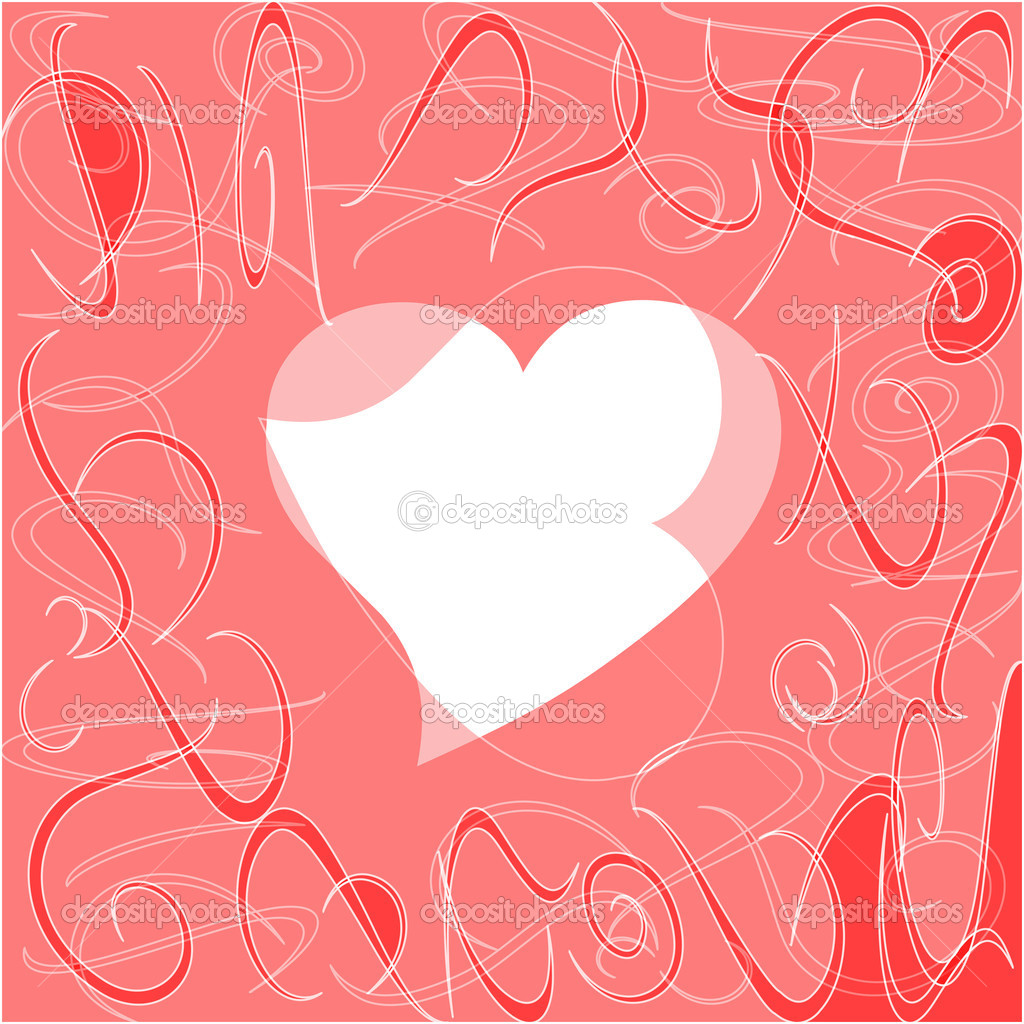 Heart love card, valentine day abstract background, vector illustration — Stock Vector #8624892