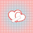 Valentine day vector background two hearts with empty space — Stock Vector