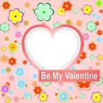 Be my valentine scrapbook flower background — Stock Vector #8887085