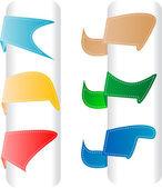 Uppsättning etiketter märken och klistermärken. vektor illustration — Stockvektor