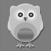 Cute metal owl. vector — Stock Vector
