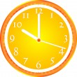 Wall clock, dial beginning of the working day — 图库矢量图片
