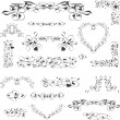 Royalty-Free Stock Imagen vectorial: Flower vintage royal design element isolated on white. Vector