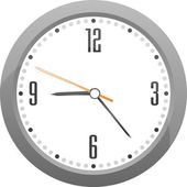 Vector gray clock — Stock Vector