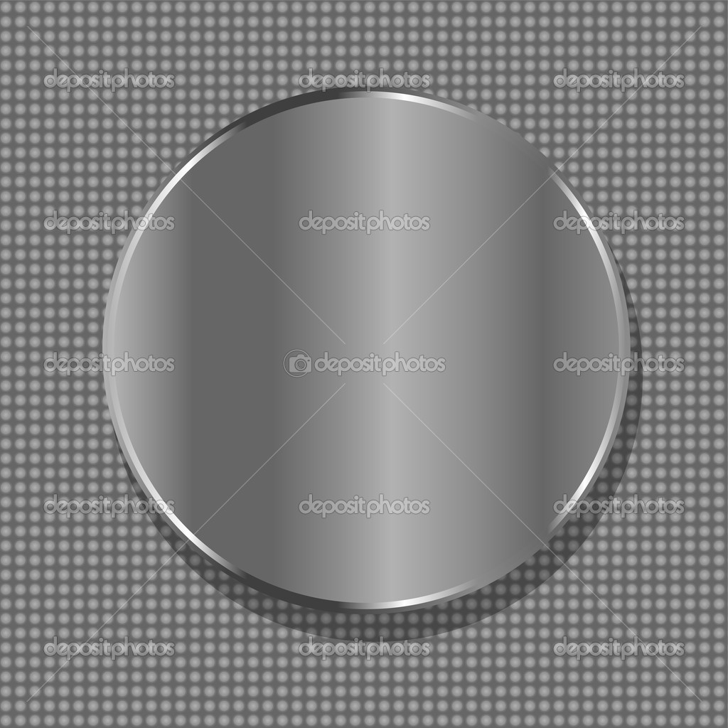 Vector blank circle metal plate with space for text  Stock Vector #9448224