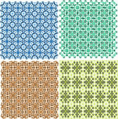 Vintage plaid abstract patterns set vector design — Stock Vector