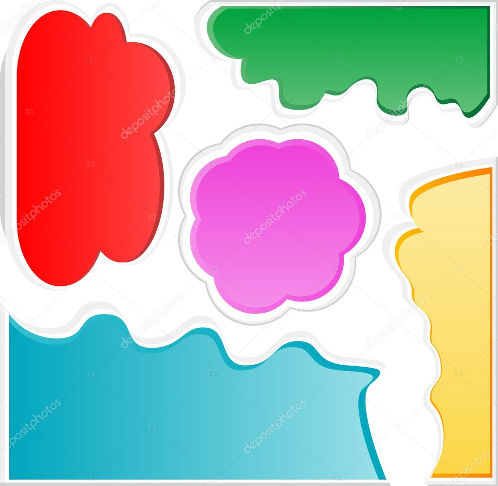 Colorful bubbles for speech. vector abstract set  Stock Vector #9450806