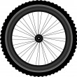 Bike wheel isolated on white background — Stock Vector #9579991