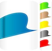 Juego de pegatinas multicolores. etiqueta de vector — Vector de stock