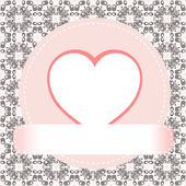 Valentine's day vector background heart — Stock Vector