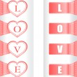 Valentine heart love labels. Vector pattern art — Stock Vector #9912285